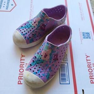 Native Jefferson lilac floral print sandal